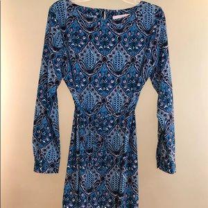 LOFT Blue Patterned Dress